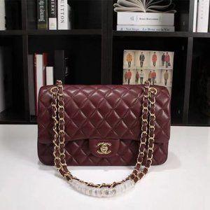 C C Double Chain Shoulder Bag